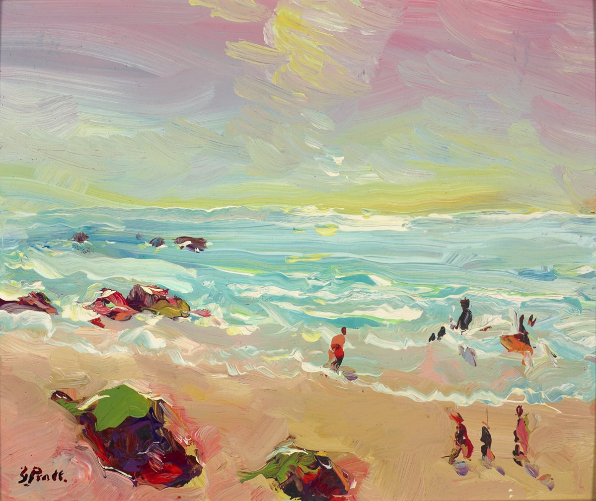 Sennen Beach, West Cornwall by jeffrey pratt -  sized 13x11 inches. Available from Whitewall Galleries